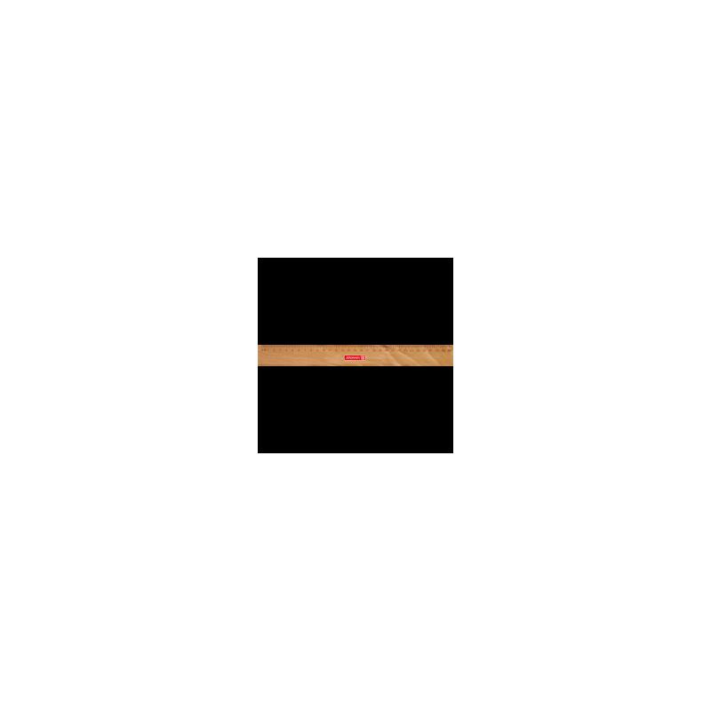 Holzlineal 30 cm, m. Metalleinlage